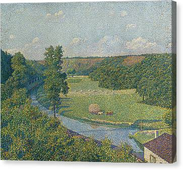 The Sambre Valley Canvas Print by Theo van Rysselberghe
