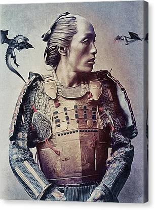 The Samurai And The Dragons Canvas Print