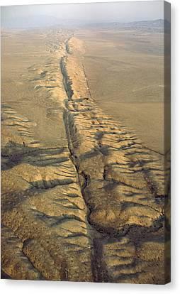 The San Andreas Fault Slashes Canvas Print by James P. Blair