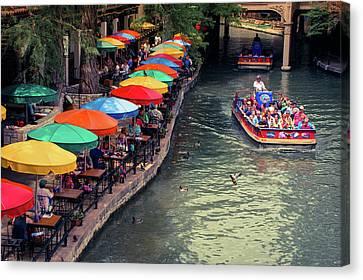 The San Antonio Riverwalk - Texas Art Canvas Print