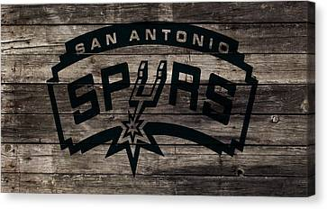 All Star Game Canvas Print - The San Antonio Spurs 1w by Brian Reaves