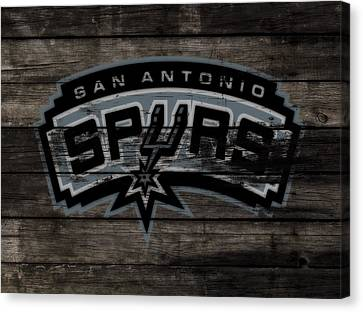 All Star Game Canvas Print - The San Antonio Spurs 3e by Brian Reaves