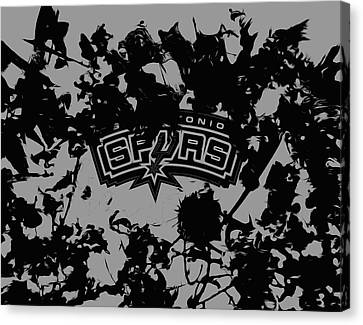 All Star Game Canvas Print - The San Antonio Spurs by Brian Reaves
