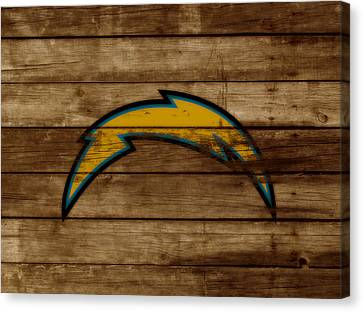 The San Diego Chargers 3a        Canvas Print by Brian Reaves