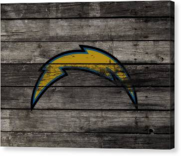 The San Diego Chargers 3e        Canvas Print by Brian Reaves