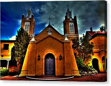The San Felipe De Neri Church Canvas Print by David Patterson