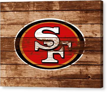 Wooden Bowl Canvas Print - The San Francisco 49ers 3b    by Brian Reaves