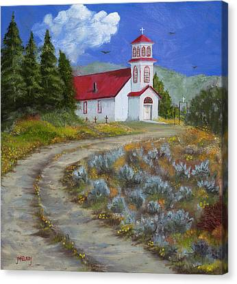 The San Iglesia Church Of Pagosa Junction Canvas Print