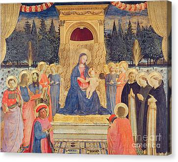Francis Canvas Print - The San Marco Altarpiece by Fra Angelico