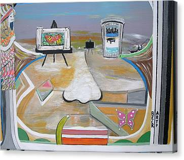 The Sand Bar Canvas Print by Becky Jenney