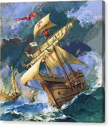 The Santa Maria Canvas Print by English School