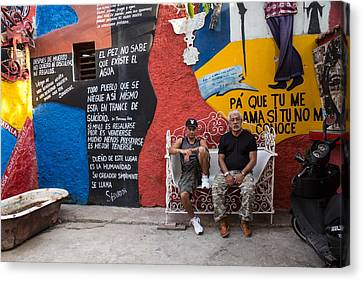 Santeria Canvas Print - The Santeria Artist In Havana by Peter Bates