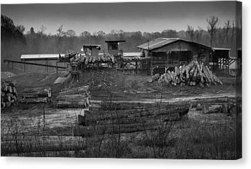 The Sawmill In Nacogdoches Canvas Print by Nadalyn Larsen