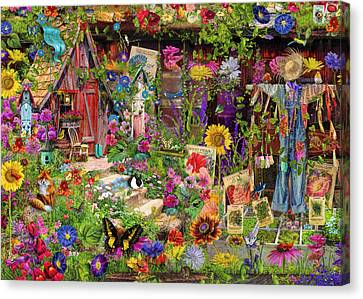 Lush Colors Canvas Print - The Scarecrows Garden by Aimee Stewart