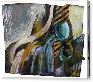 The Scarf The Glass And Caraffe Canvas Print by Piotr Antonow