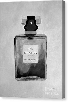 The Scent Black And White Canvas Print