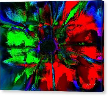 The Scent Of A Flower Canvas Print by Fania Simon