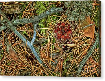 Pine Needles Canvas Print - The Scent Of Pine Forest II by Veikko Suikkanen