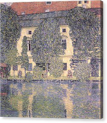 The Schloss Kammer On The Attersee IIi Canvas Print by Gustav Klimt