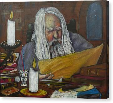 The Scholar Canvas Print