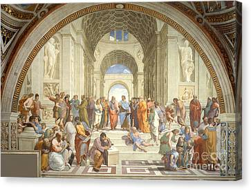 Antiquity Canvas Print - The School Of Athens, Raphael by Science Source