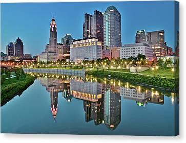 The Scioto At Blue Hour Canvas Print