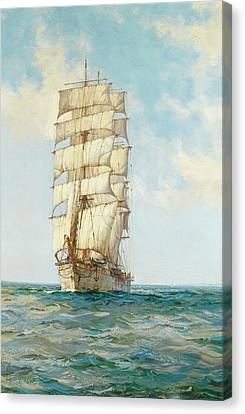 The Scottish Moors Canvas Print by Montague Dawson