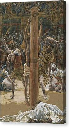 The Scourging On The Back Canvas Print by Tissot