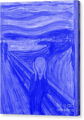 The Scream  - Edvard Munch -  Japanese Porcelain Concept Canvas Print
