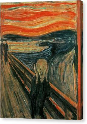 The Scream  Canvas Print by Edward Munch