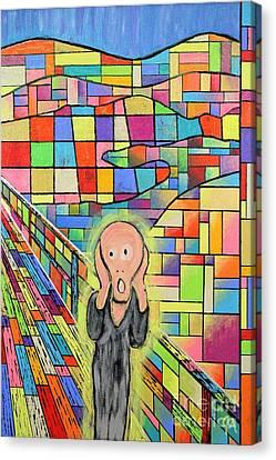 The Scream Jeremy Style Canvas Print