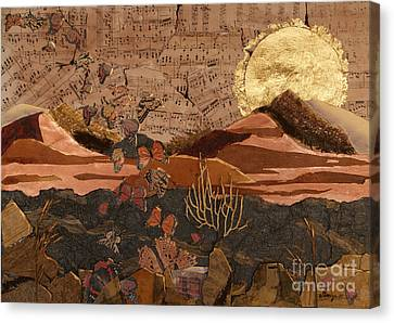 The Scream Of A Butterfly Canvas Print by Stanza Widen