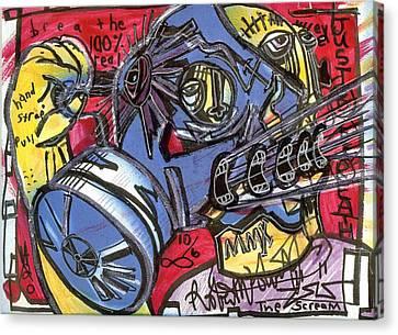 The Scream Canvas Print by Robert Wolverton Jr