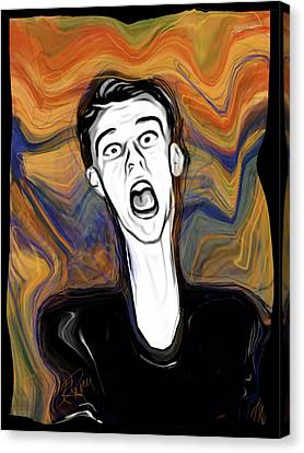 The Scream Canvas Print by Russell Pierce