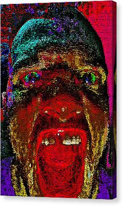 The Scream. Today. Canvas Print by Andy Za