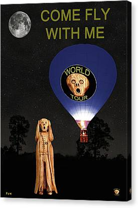 The Scream World Tour  Ballooning Come Fly With Me Canvas Print