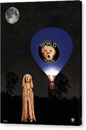 The Scream World Tour  Ballooning  Canvas Print