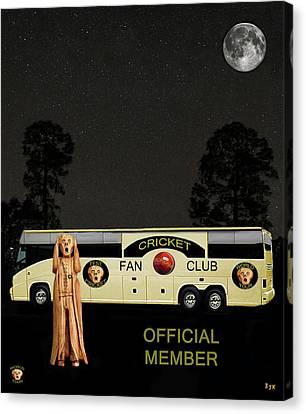 Cricket Canvas Print - The Scream World Tour Cricket  Tour Bus by Eric Kempson