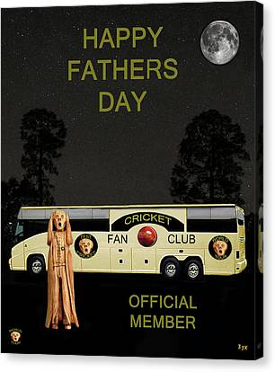 Cricket Canvas Print - The Scream World Tour Cricket  Tour Bus Happy Fathers Day by Eric Kempson