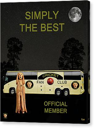 Cricket Canvas Print - The Scream World Tour Cricket  Tour Bus Simply The Best by Eric Kempson