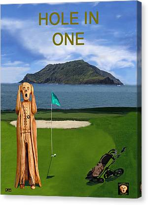 The Scream World Tour Golf  Hole In One Canvas Print by Eric Kempson