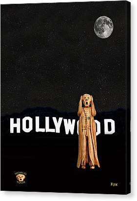 The Scream World Tour Hollywood Canvas Print