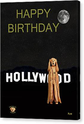 The Scream World Tour Hollywood Happy Birthday Canvas Print