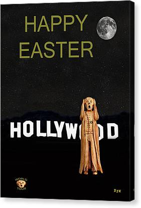 The Scream World Tour Hollywood Happy Easter Canvas Print