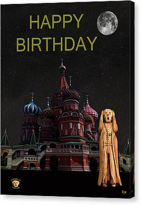 The Scream World Tour Moscow Happy Birthday Canvas Print by Eric Kempson