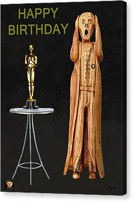 The Scream World Tour Oscars Happy Birthday Canvas Print by Eric Kempson