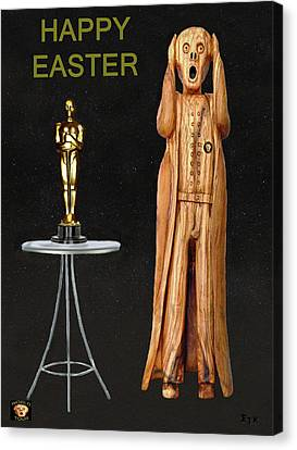 The Scream World Tour Oscars Happy Easter Canvas Print by Eric Kempson