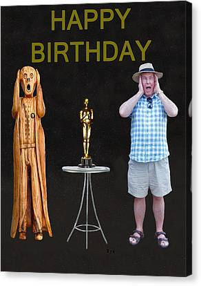 The Scream World Tour Oscars With Peter Beddoes Birthday Canvas Print by Eric Kempson