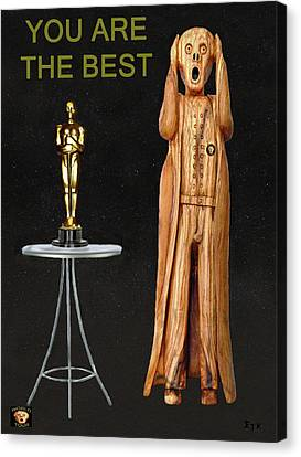 The Scream World Tour Oscars You Are The Best Canvas Print