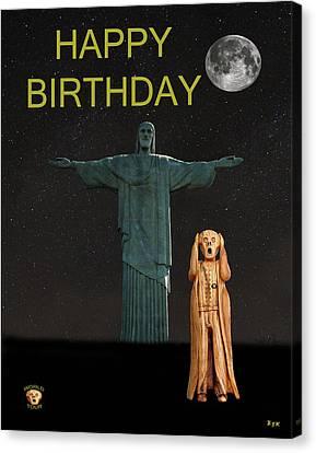 The Scream World Tour Rio Happy Birthday Canvas Print by Eric Kempson